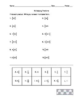 Multiplying Fractions VersaTile