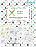 Multiplying Fractions; Visual Model Task Cards  Common Core 5.NF.4  and 5.NF.6