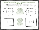Multiplying Fractions & Whole Numbers- Task Cards!