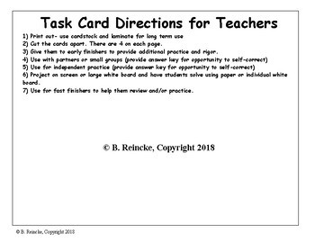 Multiplying Fractions & Whole Numbers Task Cards