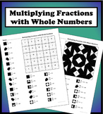 Multiplying Fractions With Whole Numbers Color Worksheet