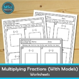 Multiplying Fractions With Visual Models Math No Prep Work