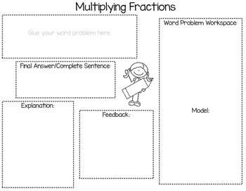 Multiplying Fractions Word Problem Activity