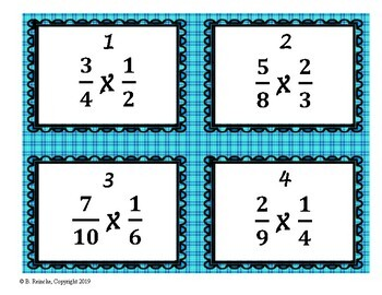 Multiplying Fractions Word Problem Task Cards