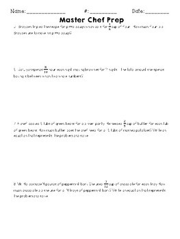 Multiplying Fractions: Word Problems