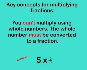 Multiplying Fractions Word Problems Applications Smartboard Multiply Fraction