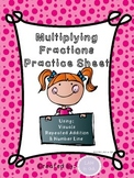 Multiplying Fractions Worksheet
