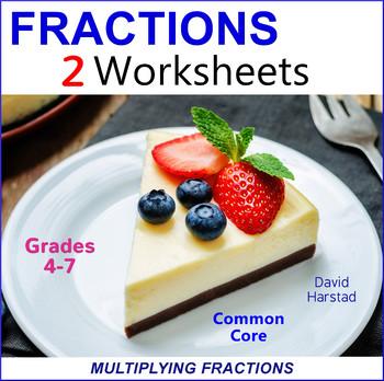 Multiplying Fractions Worksheets
