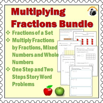 Multiplying Fractions Worksheets Bundle Th Grade Th Grade By