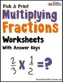 Multiplying Negative Fraction Practice Pages, Multiplying Mixed Numbers Activity