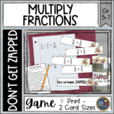 Multiplying Fractions Don't Get ZAPPED Math Game