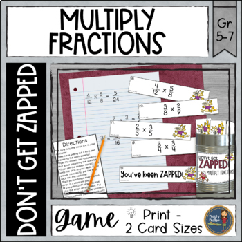 Multiplying Fractions ZAP Math Game