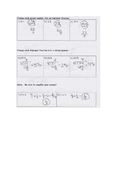 Multiplying Fractions and Conversions: Quiz, Answers, Reflection