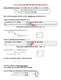 Multiplying Fractions and Cross Canceling Accomodated Learning