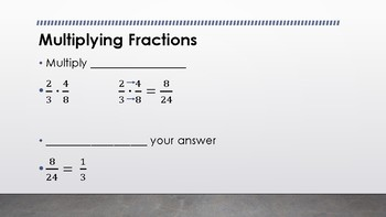 Multiplying Fractions and Decimals PowerPoint