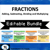 Bundle: ADD, SUBTRACT, DIVIDE and MULTIPLY Fractions 4 Games 5.NF.A.1  6.NS.A.1