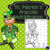 Multiplying Fractions and Mixed Numbers Color by Number St. Patrick's Day