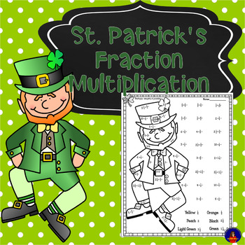 Multiplying Fractions and Mixed Numbers Color by Number St