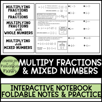 Multiplying Fractions and Mixed Numbers Foldable