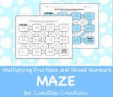 Multiplying Fractions and Mixed Numbers Maze