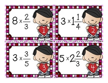 Multiplying Fractions and Mixed Numbers Task Cards