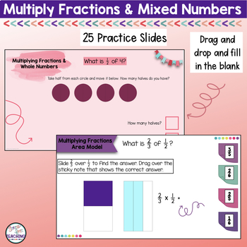 Multiplying Fractions and Mixed Numbers for use with Google Apps