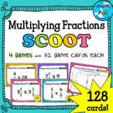 SCOOT Game Bundle: Multiplying Fractions, Mixed numbers, and Whole Numbers