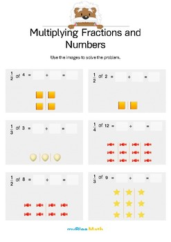 Fractions: Multiplying Fractions and Numbers 2