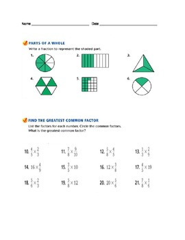 Multiplying Fractions and Whole Numbers
