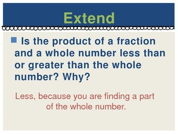 Multiplying Fractions and Whole Numbers (5th Grade EnVision Math Power Point)