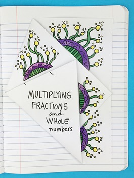 Multiplying Fractions and Whole Numbers Notebook Foldable by Math Doodles