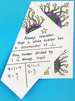Doodle - Multiplying Fractions and Whole Numbers Notebook Foldable