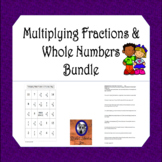 Multiplying Fractions and Whole Numbers Package (6 products)