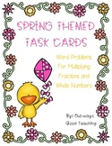 Multiplying Fractions and Whole Numbers - Spring Themed Ta