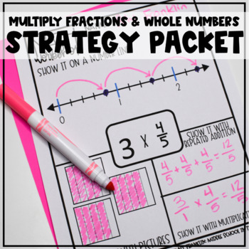 Multiplying Fractions and Whole Numbers Strategies Packet