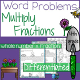 Multiplying Fractions and Whole Numbers Word Problems 4th Grade