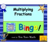 Multiplying Fractions bingo! game