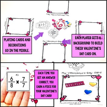 Valentine's Day Multiplying Fractions by Fractions Game