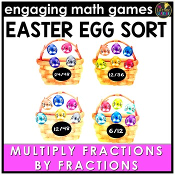 Easter Math Game - Multiplying Fractions by Fractions