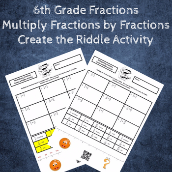 Multiplying Fractions by Fractions Create the Riddle Activity