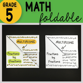 Math Doodle - Multiplying Fractions by Fractions ~ Foldable Notes ~