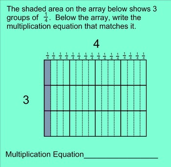 Multiplying Fractions by Fractions SMARTnotebook