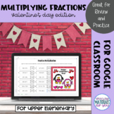 Multiplying Fractions by Fractions | Valentines Mystery Picture