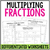 Multiplying Fractions Worksheets for Whole Numbers and Fractions