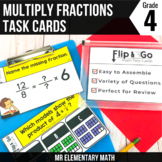 Multiplying Fractions by Whole Numbers Task Cards 4th Grade Math Centers