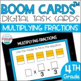 Multiplying Fractions by Whole Numbers BOOM CARDS™ Digital