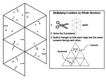 Multiplying Fractions by Whole Numbers Game: Math Tarsia Puzzle