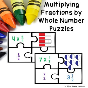 Multiplying Fractions by Whole Numbers Game Puzzles 4.NF.4