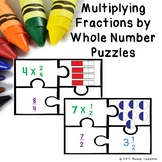 Multiply Fractions by Whole Number Game Puzzles Fraction 4th Grade Center 4.NF.4