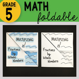 Doodle Notes - Multiplying Fractions by Whole Numbers Math Foldable